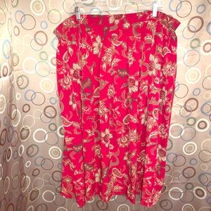Alfred Dunner Size 22W Print Skirt